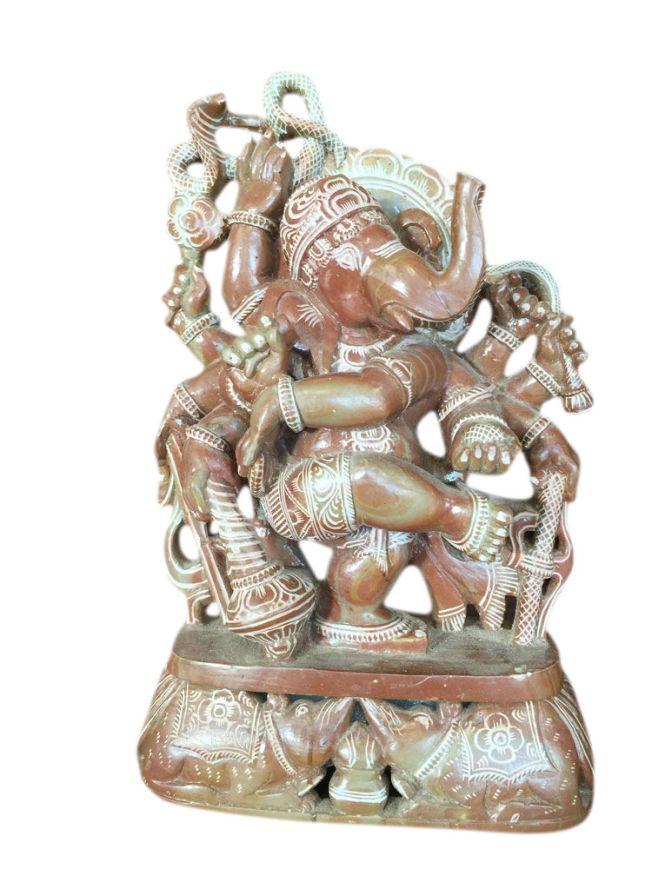 Antique home decor ganesha stone sculpture mogulinteriorsite